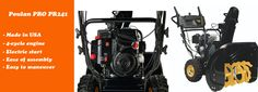 Poulan PRO PR241 is a powerful and easy to maneuver gas snow thrower