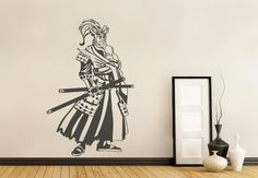 Samurai Wall Sticker. The military novelties of early modern and medieval Japan; Samurai warriors were widely acknowledged for their courage and valor. Let their fearlessness and gallantry inspire your lives through this amazing modern wall art. http://walliv.com/samurai-wall-sticker-wall-art-decal