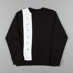 Stussy Paneled Crewneck Sweatshirt - Black