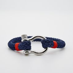 Stainless Steel + Nylon Rope // Navy