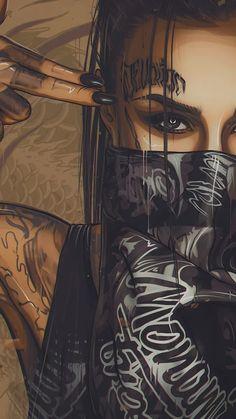 Jessica Hart Wallpaper Others Babes Girls Wallpapers) – Wallpapers Fille Gangsta, Gangsta Girl, Arte Dope, Dope Art, Art Et Design, Dope Wallpapers, Wallpaper Wallpapers, Desenho Tattoo, Chicano Art