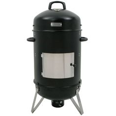 "BBQ-Bull® - XL Räucher Tonne ""Hickory"", Ø 46 cm #Räucherofen, #Smokertonne, #Holzkohle Grill, 107 cm hoch"