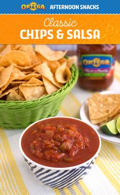 Chips and salsa. A classic, like the Romance languages. But crunchier and tomatoey-er. Perfect for an after-school snack.