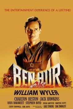 1959. Cartel de Ben-Hur. Me gustó mucho. Me acuerdo cuando la ví por primera vez.