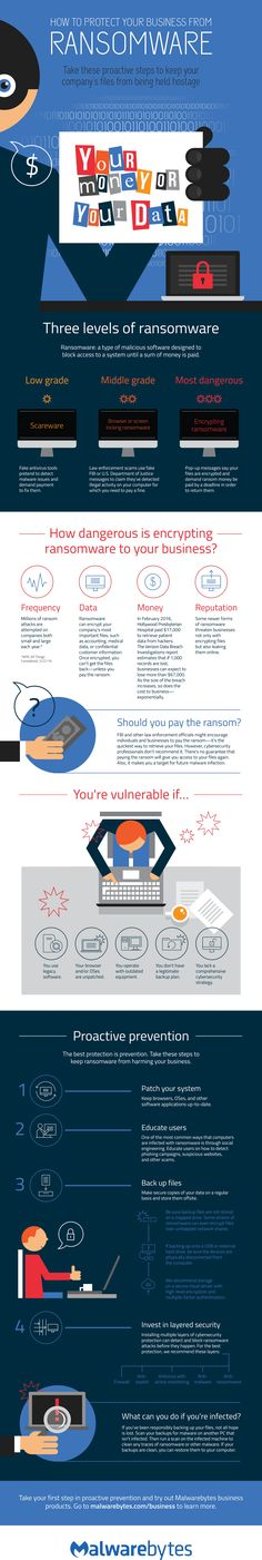Ransomware is as pervasive as it is dangerous. Learn how to protect your business from ransomware with this infographic.