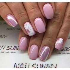 ideas for nails sencillas gelish Spring Nail Art, Spring Nails, Summer Nails, Fall Nails, Trendy Nails, Cute Nails, My Nails, Glitter Nails, Pink Glitter
