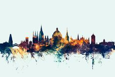 Oxford England Skyline Digital Art by Michael Tompsett