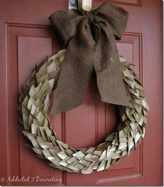 "Fall Cardstock ""Leaf"" Wreath"