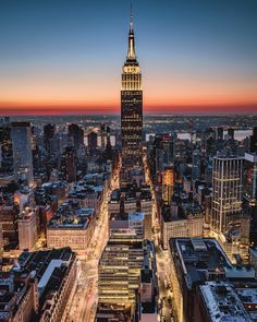 Empire State Building sunrise by Paul Seibert @pseibertphoto