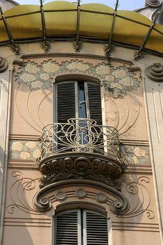Torino, Corso Francia, Jugendstilhaus La Fleur von Pietro Fenoglio (art nouveau house)