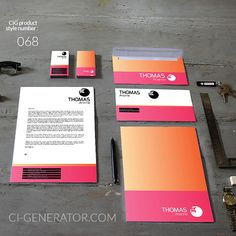 Your New Corporate - Identity Get it Now! CI  layouts branding stationery typography logo design