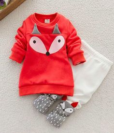 Fox sweatshirt pants and top | Ensemble renard en cotton ouaté
