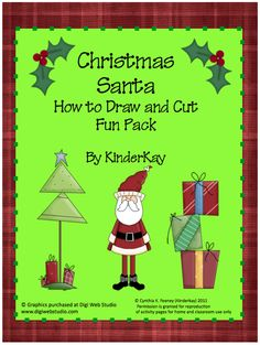 """FREE MISC. LESSON - """"Christmas Santa I Can Draw Fun Pack"""" - Go to The Best of Teacher Entrepreneurs for this and hundreds of free lessons. http://thebestofteacherentrepreneurs.blogspot.com/2011/12/free-misc-lesson-christmas-santa-i-can.html"""
