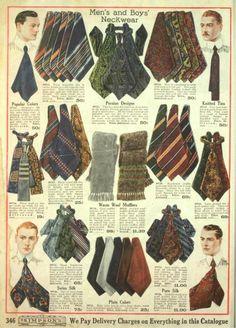 1918 mens edwardian neck ties bow ties