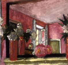 Reflections in a Mirror on the Mantle Piece by Edouard Vuillard