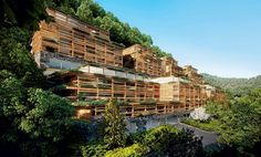 matteo thun envelopes waldhotel - located in bürgenstock, the healthcare complex will offer wellness facilities, a spa and different kinds of medical treatments- all of which surrounds the pristine swiss landscape.