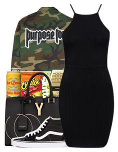 """""""Yung bratz XXXTENTACION"""" by maiyaxbabyyy ❤ liked on Polyvore featuring Casio, Yves Saint Laurent, Allison Bryan and Vans"""