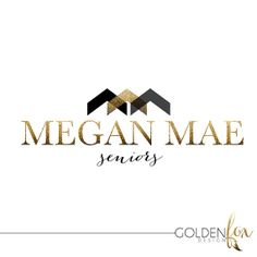 Premade logo, fashion, blogger, photographer, modern, senior photography, gold glitter, Watermark Logo Photography Event by GoldenFoxDesign, $35.00