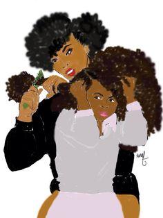 Natural Hair Art Poster signed by Nicholle KOBI Art Black Love, Black Girl Art, Art Girl, Natural Hair Art, Natural Hair Styles, Art Afro Au Naturel, Black Artwork, Afro Art, Natural Women
