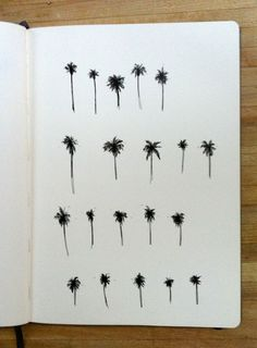 20 baby palm trees, in-progress commission