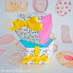 Shoebox Crafts : DIY Hexagonal gift boxes