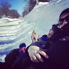 L'hivernage achève et on peut déjà se dégourdir un peu!  #hiver #enfant #velo #sport