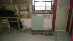 Plumbing site visit, remove interior doors, prep cabinets Nov 21
