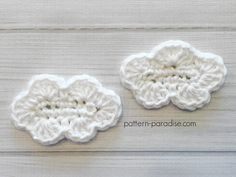Free Crochet Pattern: Cloud Applique