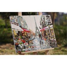 Paris Street DIY Painting 1