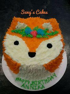 Buttercream Fox cake