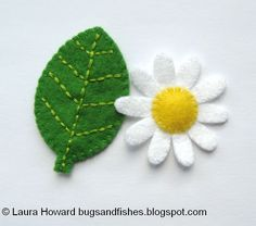 Bugs and Fishes by Lupin: How To: Make a Mini Felt Leaf & Daisy