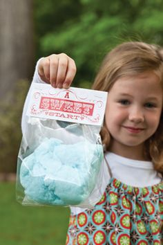 Back-to-School Carnival — Cotton-Candy Favor
