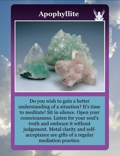 Time for Meditation with Apophyllite. Part 1 of 2: