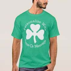 PERSONALIZED Shamrock St Patricks Day T-Shirt