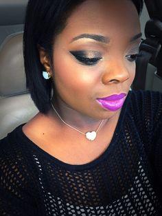 MAC herione on the lips Bh cosmetics in the crease 2nd edition pallet Milani foil eyeshadow on the lid  Instagram@tasiarenee FB@tasiarenee