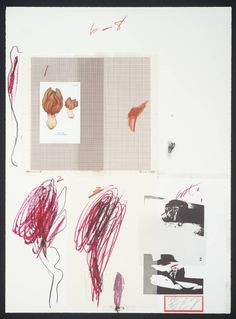 Cy Twombly - No. IX, 1974. Lithograph and mixed media on paper
