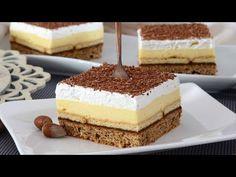 Puding kolač sa keksom i nutelom Sweet Recipes, Cake Recipes, Dessert Recipes, Desserts, Nutella, Croatian Recipes, Vanilla Cake, Sweets, Kitchen Furniture
