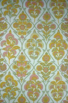 Modern Baroque Vinyl Wallpaper