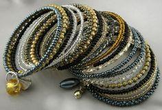 bransoletki - szkło-memory - reflexive Memories, Bracelets, Wire, Jewelry, Memoirs, Souvenirs, Jewlery, Bijoux, Schmuck
