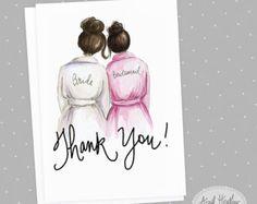 Bridesmaid PDF Brunette Bride and Dark Brunette by aprilheatherart