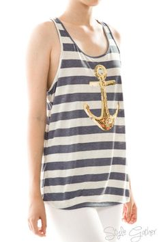 Anchor Stripe Tank Top – Style Gather