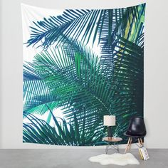Tropical wall tapestry/Tree wall tapestry/Palms wall tapestry/Jungle wall tapestry/Nature/tree wall decor/California palms wall tapestry
