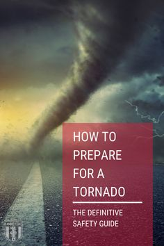 Learn how to prepare for a tornado. Read our guide to help you stay safe and learn different ways to protect yourself before and after a tornado or thunderstorm. #tornado #guide #prepareforatornado #preparadness #survival Tornado Preparedness, Emergency Preparedness Kit, Tornadoes, Thunderstorms, Noaa Weather Radio, School Hallways, Mobile Home Parks, Safe Room, Strong Wind
