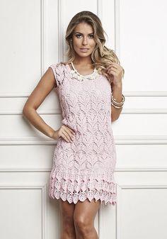 Crochet Dress Pink
