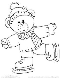 Printable cute bear on ice skates coloring page – Printable Coloring Pages For Kids Make your world more colorful with free printable coloring pages from italks. Our free coloring pages for adults and kids. Coloring Pages Winter, Bear Coloring Pages, Christmas Coloring Pages, Free Printable Coloring Pages, Adult Coloring Pages, Coloring Pages For Kids, Coloring Sheets, Coloring Books, Christmas Embroidery