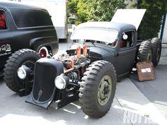 rat rod extended truck - extra axle