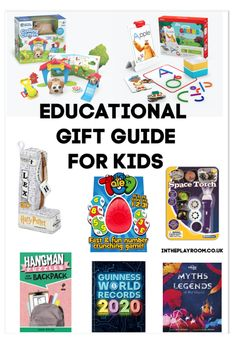 Educational toy ideas for Christmas. Some fun gift ideas that help kids learn and develop skills