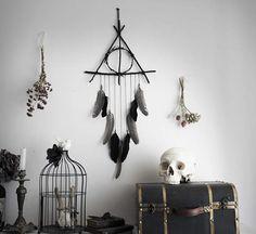 Reliques de la Mort . attrape-rêves triangle de branche et