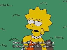 You know what you'd ask Joan Rivers if you ever met her. | 29 Signs You're The Lisa Simpson Of Your Family