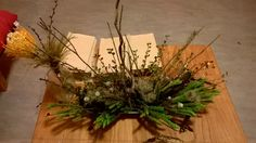 winter,wild flower arrangement for Glut and Comida Long Table Dinner in The Guesthouse december 2016.